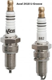 Accel 2418 Spark Plugs (Pair) 6R12 for Harley Davidson Twin Cam